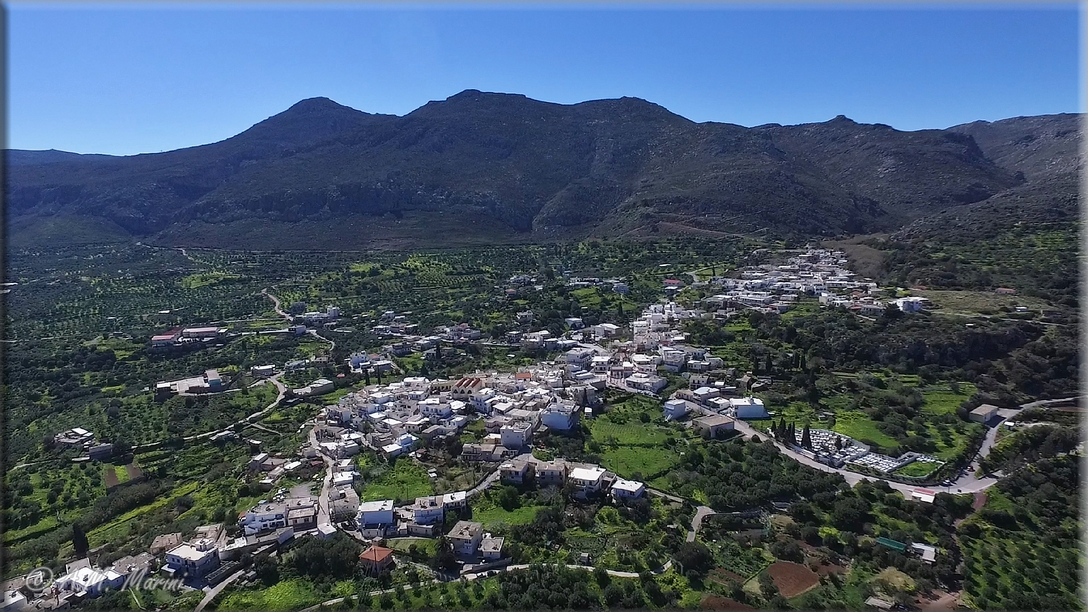 Zakros (East Crete) - overview by drone